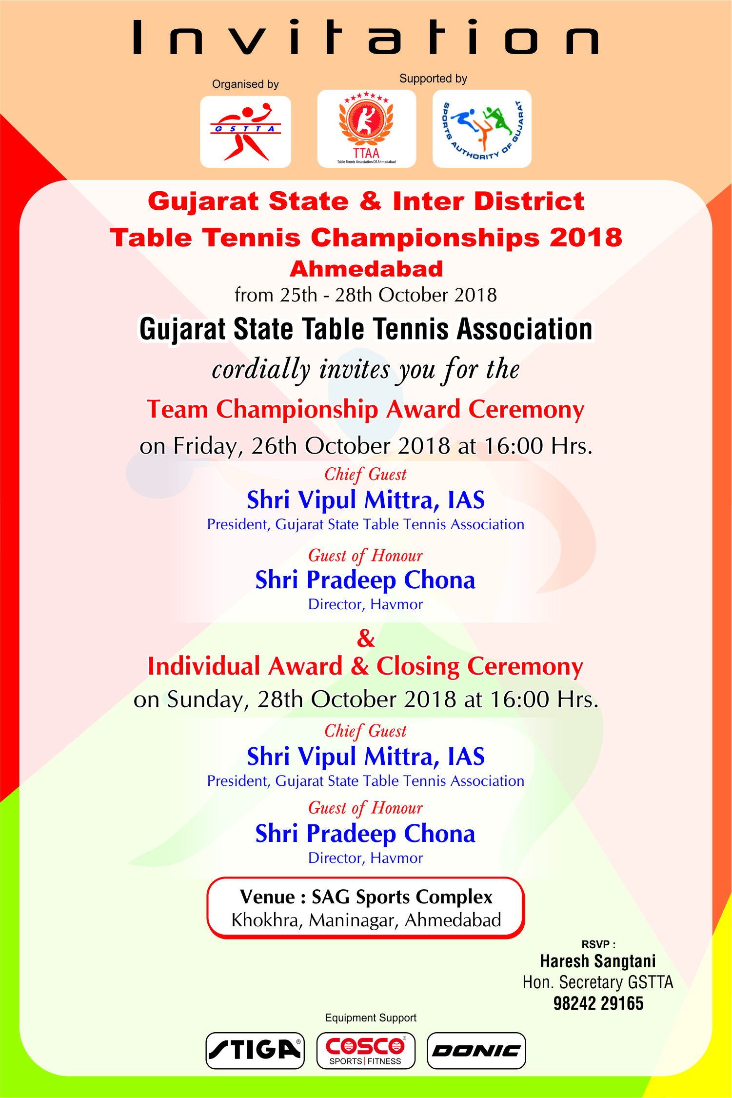 GSTTA – Gujarat State Table Tennis Association | Gujarat State and
